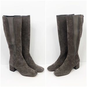 Donald J Pliner Camille Suede Stretch Tall Boots